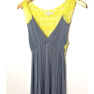 Ocean Drive gray and yellow maxi dress S